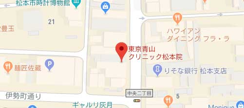 東京青山クリニック 松本院地図