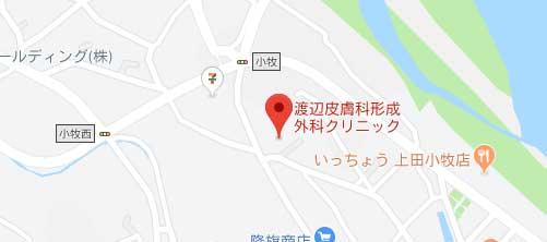 渡辺皮膚科・形成外科クリニック地図