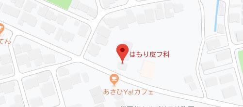 はもり皮フ科地図