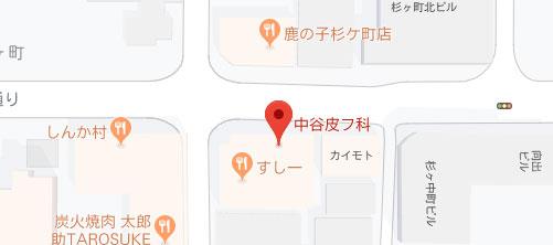 中谷皮フ科地図