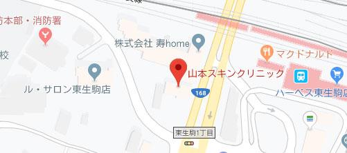 山本スキンクリニック地図