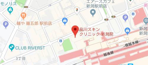 品川スキンクリニック 新潟院地図