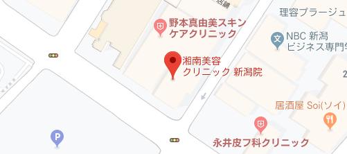 湘南美容クリニック 新潟院地図