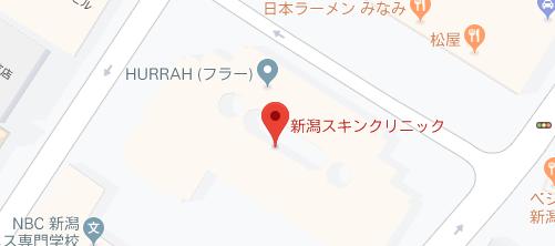 スキンクリニック 新潟院地図