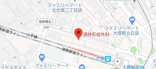 酒井形成外科地図