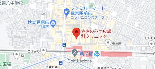 大塚美容形成外科 東京大塚院地図
