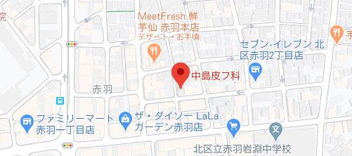 中島皮フ科地図