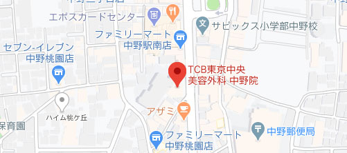 東京中央美容外科 中野院地図