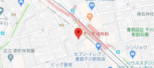千川形成外科地図