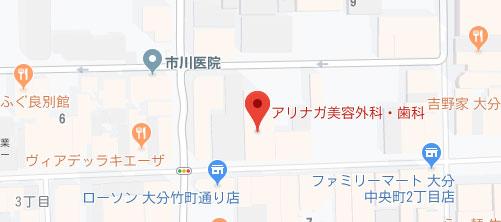 アリナガ美容外科地図