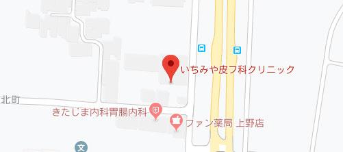 いちみや皮フ科クリニック地図