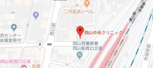 岡山中央クリニック地図