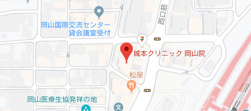 城本クリニック 岡山院地図