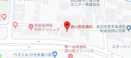 西川原皮膚科地図