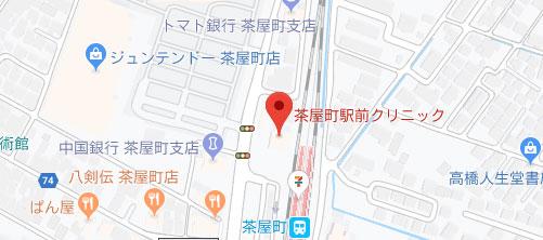 茶屋町駅前クリニック地図