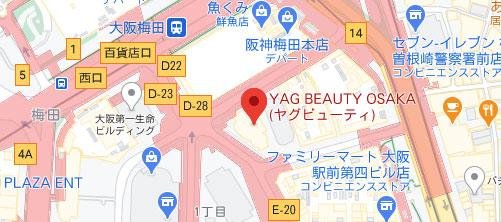 コーラルビューティークリニック 梅田院地図
