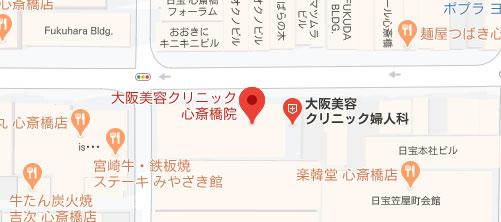 大阪美容クリニック地図
