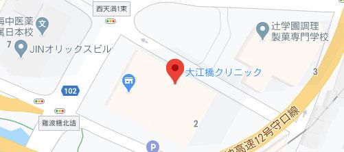大江橋クリニック地図