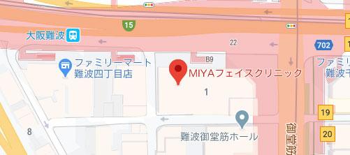 MIYAフェイスクリニック地図