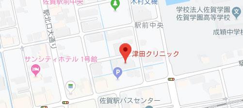 津田クリニック地図