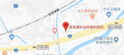 森皮膚科泌尿器科医院地図