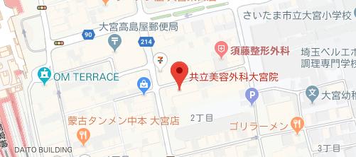 共立美容外科 大宮院地図
