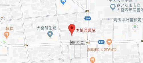 木根淵医院地図
