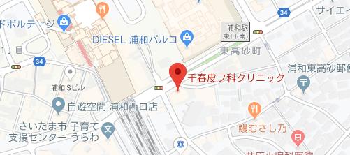 千春皮フ科クリニック地図