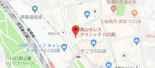 青山セレスクリニック 埼玉川口院地図