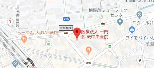 蕨中央病院地図