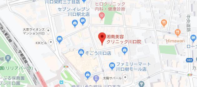 湘南美容クリニック 川口院地図