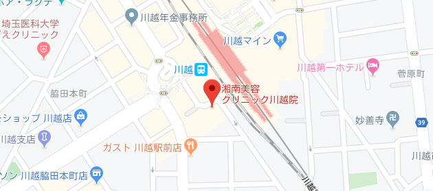 湘南美容クリニック 川越院地図