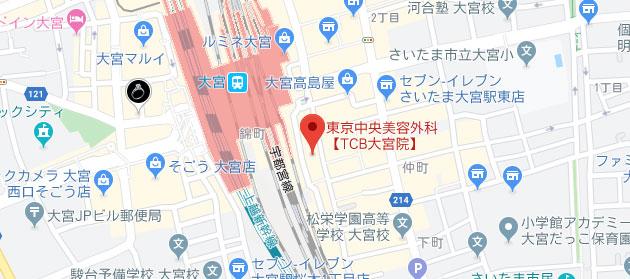東京中央美容外科 大宮院地図