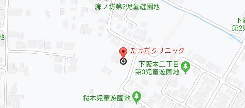 大津スキンケア 下阪本院地図