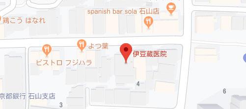 伊豆蔵医院地図