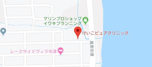 けいこピュアクリニック地図