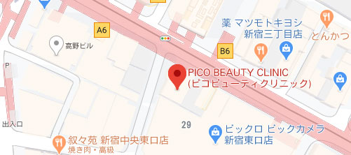 PICO BEAUTY CLINIC地図