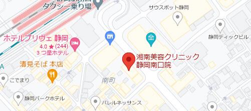 湘南美容クリニック 静岡院地図