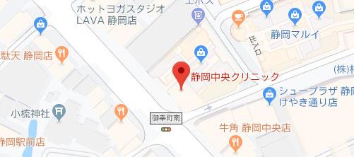 静岡中央クリニック地図