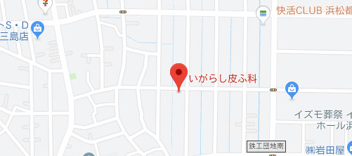 いがらし皮ふ科地図
