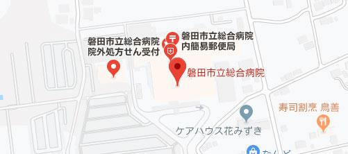 磐田市立総合病院地図
