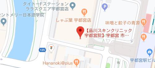 品川スキンクリニック 宇都宮院地図