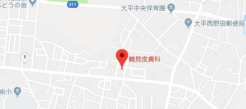 鶴見皮膚科地図
