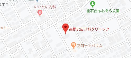 高根沢皮フ科クリニック地図