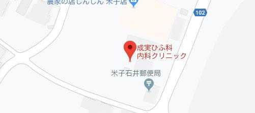 成実ひふ科内科クリニック地図