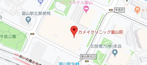 カメイクリニック 富山院地図