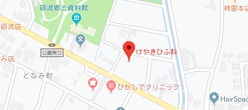 けやきひふ科地図