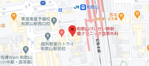 コーラルビューティークリニック 和歌山院地図