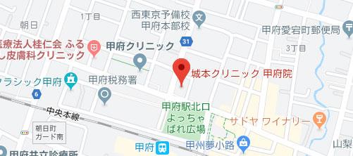 城本クリニック 甲府院地図